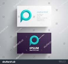 Social Network Business Card Business Card Logo Speech Bubble Map Stock Vector 224877580