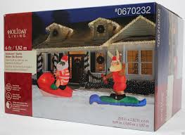 Lighted Santa And Reindeer Outdoor by Gemmy Christmas 29 5 Ft Wide Lighted Santa Water Ski Scene