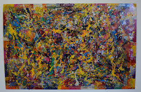 modern paint transfer 7 abstract modern painting on aluminum by artist bruce gray