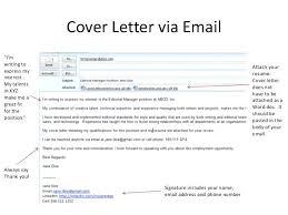 cover letter via email sle cover letter for sending resume via email