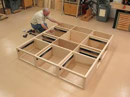 King Size Bed Frame Diy Chic King Size Bed Frame With Drawers Plans Design