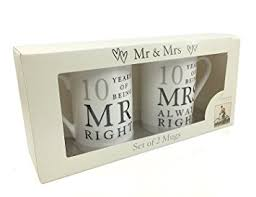 10th wedding anniversary gifts 10th wedding anniversary gift pair of mugs co uk toys