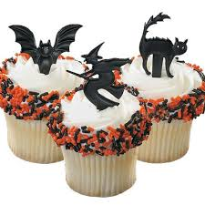 Halloween Witch Cake by Bun Or Cake Topper Black Bun Picks Witch Cat Bat Online