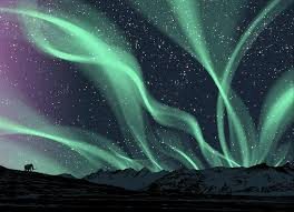 glow in the dark poster glow in the dark aurora borealis poster
