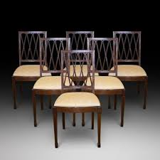 atlas chairs and tables 6 edwardian mahogany and inlaid dining chairs antiques atlas two