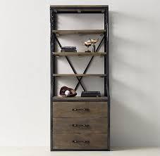 Distressed Black Bookcase Gray Distressed Single Library Bookcase