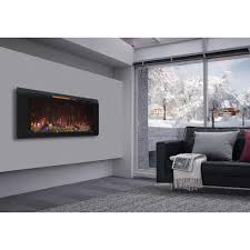 classic flame helen 48 in wall mount electric fireplace in black