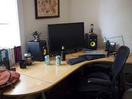 Left Handed Desk Wonderful Left Handed Desk Setup With Ars Staffers Exposed Our