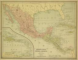 Central Mexico Map by Mexico Cuba U0026 Central America Map 1890 Original Art Antique