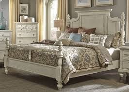 king poster bedroom set high country white king poster bed from liberty 697 br kps