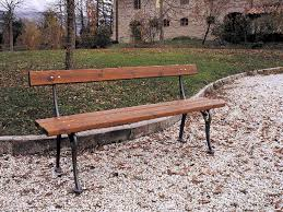 panchine da giardino in ghisa 113 panchina francescana per parchi e giardini da marinelli