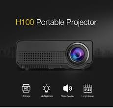h100 led projector 600 lumens 480 x 320p support 800 x 480p us