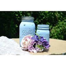 rustic mason jars wedding favors centerpieces set of two 2