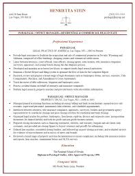examples of paralegal resumes best paralegal resume example real
