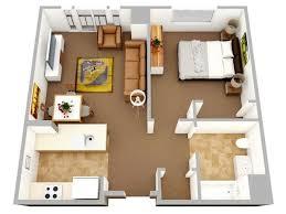 50 plans en 3d d appartement avec 1 chambres large bedroom