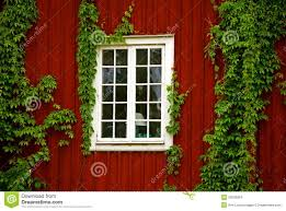 red wooden house stock images image 35905934