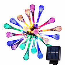 Solar Powered Outdoor Fairy Lights by String Lights Amazon Co Uk