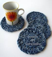 Denim Home Decor Crocheted Home Decor Creative Art Expressions