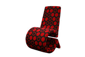 Patterned Accent Chair Forte Red And Black Patterned Fabric Accent Chair Affordable