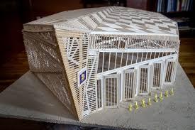 toothpick house man creates 4 foot long replica of u s bank stadium using 6 400