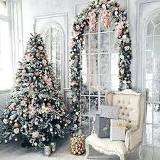 lighted tree branches tree decor for home glam pink tree with matching garland lighted