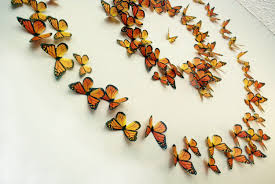 Butterfly 3d Wall Art by Monarch Butterflies 3d Wall Art Set Of 100