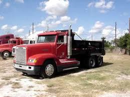 freightliner dump truck freightliner dump truck caterpiller jake brakes youtube