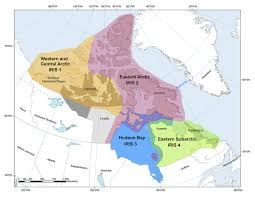 Eastern Canada Map by Arcticnet Integrated Regional Impact Studies
