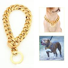 gold chain collar necklace images 2018 dog supplies 12 22 dog gold chain collar 13mm wide tone jpg