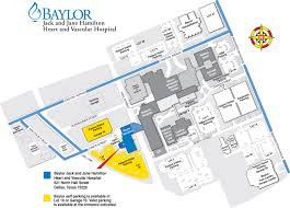 Map Dallas Texas by Baylor Heart And Vascular Hospital Directions Dallas Campus