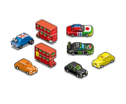 100 pixel vehicles by eboy high resolution eboy zoomed vehicle from 8bitdecals 099