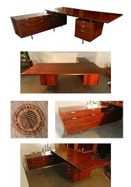 georges nelson bureau executive desk en palissandre edition herman