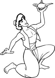 prince aladdin walt disney characters lamb coloring page