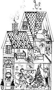 coloring house coloring sheet