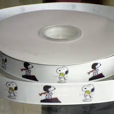 snoopy ribbon 7 8 inch custom snoopy satin or grosgrain ribbon jlribbongear on