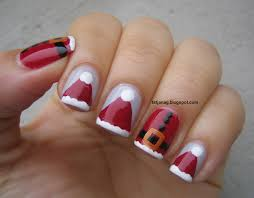 nail art xmas nail art designs easy christmas holly nails on