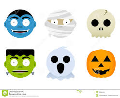 halloween monster faces stock images image 26332694
