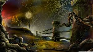 animated halloween desktop background spider web hallowmas halloween hd desktop wallpaper widescreen