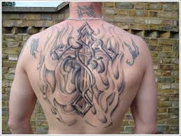 tribal celtic cross design ideas for men on back celtic tattoo