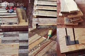 diy upcycled pallet into rustic kitchen table u2022 1001 pallets