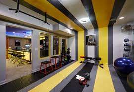 how to decorate a home gym