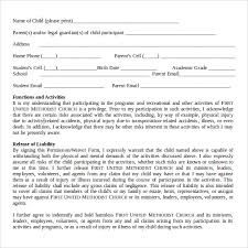 10 medical waiver forms free sample example format