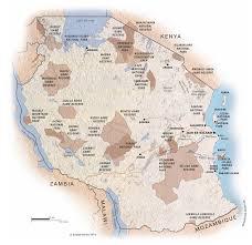 africa map 2014 map of tanzania c expert africa