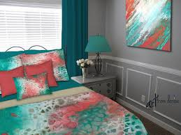 artisan duvet cover and bedding sets for your teal and coral