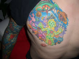 alien tattoo on body real photo pictures images and sketches