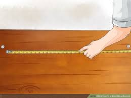 What Is The Width Of A King Size Headboard by 4 Ways To Fit A Bed Headboard Wikihow