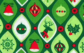 cotton quilt fabric nordic ornaments green auntie