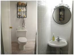 Bathroom Makeover On A Budget - remodelaholic a 170 bathroom makeover with painted tile