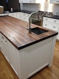 How To Install Butcher Block Countertops by Prefinished Walnut Butcher Block Countertop Add Beauty And Value