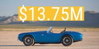 most expensive sold at auction this shelby cobra is the most expensive car sold at